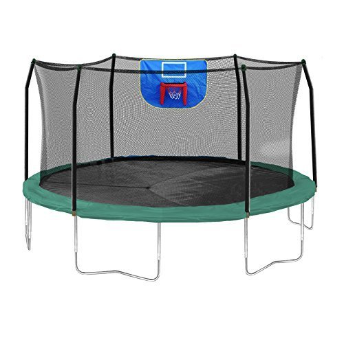Skywalker Trampolines 15-Foot Jump N' Dunk Round Trampoline with...
