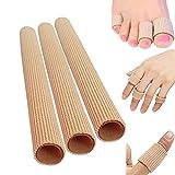 3 protectores para dedos de los pies, separador tubular de silicona, protección para dedos, vendaje para dedos de los pies, vendaje para Navidad, regalo