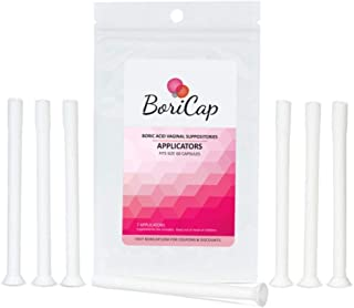 BoriCap Vaginal Suppository Applicator 7 Count   Reusable   Fits All Size 00 Capsules   Ideal for Boric Acid Suppositories   Individually Wrapped   Doctor Recommended   Made in The USA
