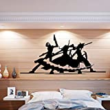 ASFGA Movie Master Silhouette Wall Art Anime Stickers Dormitorio Familiar decoración de la habitación de los niños Sala de Estar extraíble Dormitorio Sala de Juegos Club 90x42cm