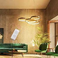 PLLP クリエイティブなデザインのシャンデリア、モダンなミニマリストのリモートコントロール調光可能なシャンデリアリビングルームダイニングルームキッチン装飾ライト