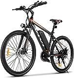 VIVI E-Bike Mountainbike, 26 Zoll Elektrofahrrad Pedelec, 350W E Bike Herren und Damen mit Abnehmbarer 10,4 Ah Lithium-Ionen-Batterie, 21-Gang-Getriebe