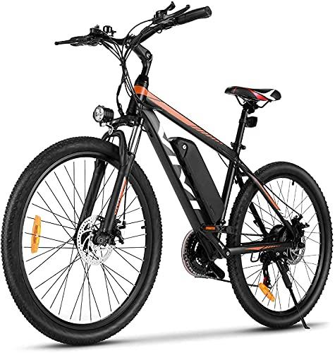 VIVI Biciclette Elettriche, 26'' Mountain Elettrica Bike, 350W Bici Elettrica Per Uomo/Donna Con Batteria Agli Ioni Di Litio Rimovibile Da 10,4 Ah, Shimano 21 Velocità