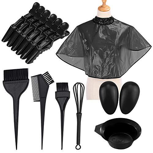 YuCool Haarfärbe-Set, 25-teilig, zum Färben von Umhang mit Pinsel, Kamm, Mischschüssel, Schneebesen, Haarspangen, praktisches Werkzeug für Salon und Heimwerker