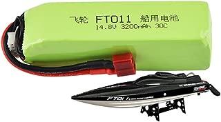 Sdoveb 14.8V 3200mAH Battery for Feilun Ft010 Ft011 RC Boat (Green)