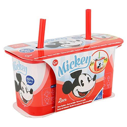 Stor Daily Use Mickey Mouse Lot de 2 Verres à Liqueur 190 ML