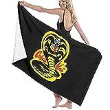 Hidreama Cobra-Kai-Denim-Dad Beach Towel Soft Sports Lightweight...