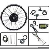 GJZhuan Bicicleta eléctrica 36V350W Frente Kit de conversión EBIKE Motor de Cubo de Rueda con LCD3 Display 16-28 Pulgadas 700C con radios y llanta,700C LCD Sets