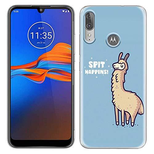 Yoedge Motorola Moto E6 Plus Hülle, Silikon Transparent TPU Schutzhülle Handyhülle mit Muster Motiv Hülle Superdünn Stoßfest Rückschale Tasche Weiche Back Cover Moto E6 Plus 6,1