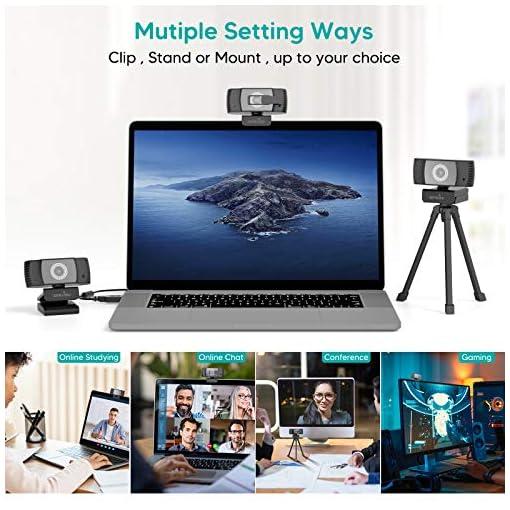 Wansview Webcam 1080p Autofocus con Microfonos de Reducción de Ruido, USB Webcam Plug and Play con Clip Giratorio, Full… 7