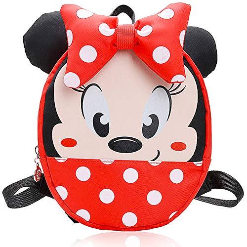 JPYZ Minnie Mouse school bag Mochila para Niños, útiles Escolares, Regalos para Niños, el Sueño de Disney para Niños, Diseño de Dibujos Animados en 3D Mickey Mouse