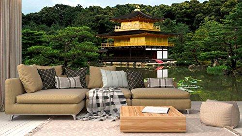 Fotomural Vinilo Pared Jardín japones | Varias Medidas 350x250cm | Ideal para la decoración de comedores, Salones | Motivos Paisajisticos | Urbes, Naturaleza, Arte | Multicolor | Diseño Elegante
