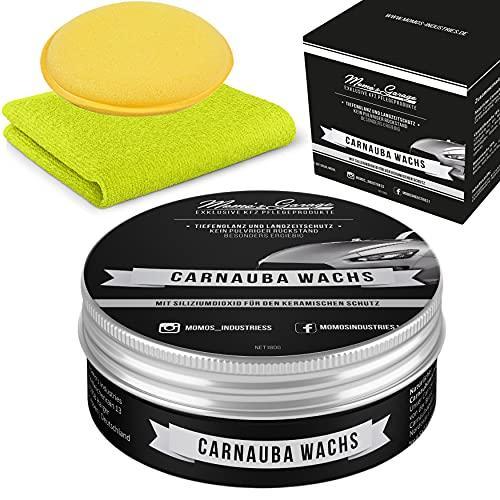 Momo's Garage ® Carnauba Politur + Wax mit SiO2 Versiegelung High End Schutz mit EXTREM Perleffekt als Set - Auto Wachs - Nanoversiegelung -