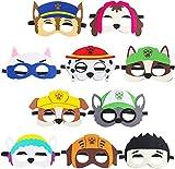 BeYumi 10Packs Puppy Party Masken Geburtstag Party Cosplay Charakter Party Favors Partyzubehör für...