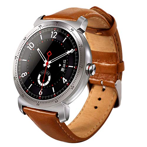 OPTA RSB-038 Pandora Bluetooth Smart Watch with Call & Phonebook Function| HD Full Color Display with Heart Rate Monitoring for Android and iOS Mobile(Brown)