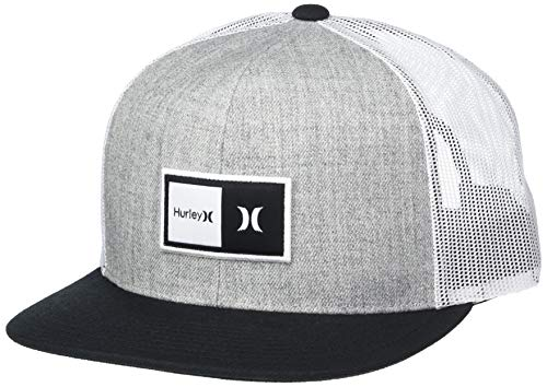 Hurley Men's Logo Patch Trucker Baseball Cap, Cool Grey, Qty