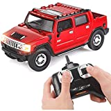 Liberty Imports Hummer H2 SUV Full Function RC Radio Remote Control Car 1:24 Scale (H2 SUT Red)