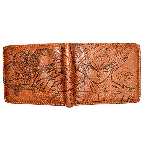 Portefeuilles Dragon Ball Z de Haute qualité pour Jeunes avec Porte-Monnaie pour Homme