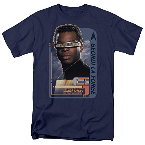 Star Trek - St: Next Gen / Geordi Laforge Erwachsene T-Shirt in Navy, Large, Navy