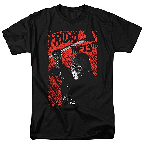 Camiseta e adesivos Popfunk Friday The 13th Movie Jason Lives, A. Black, Medium