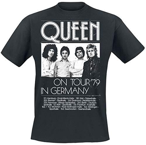 Queen Germany Tour 79 Männer T-Shirt schwarz XL 100% Baumwolle Band-Merch, Bands