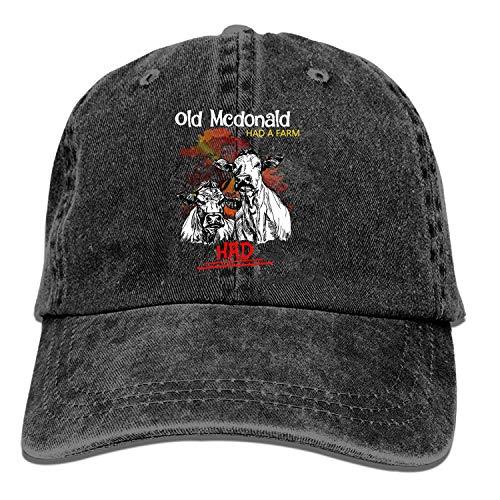 Baseball Trucker Cap,Old McDonald Had A Farm Adjustable Youth Cowboy Mens Golf Caps Hats