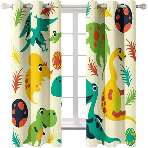Realistic Animal Digital Printing Curtains Microfiber Blackout Curtains Rod Perforated Curtains Can Be Washed 2 Pieces