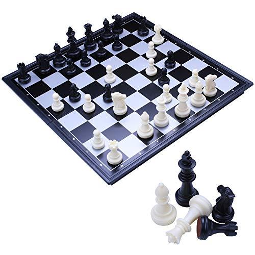 Toudorp チェス マグネット チェスセット 折りたたみ おもちゃ 楽しめる ボードゲーム 教育 脳トレーニング 知能開発 収納 便利 学生 大人向け 32*32(M)