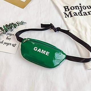 Adebie - Fashion Mini Cute Small Jelly Girl's Waist Bag Transparent Clear Brand Designer Children Funny Pack Chest Bag PVC Kid's Belt Bag Green []
