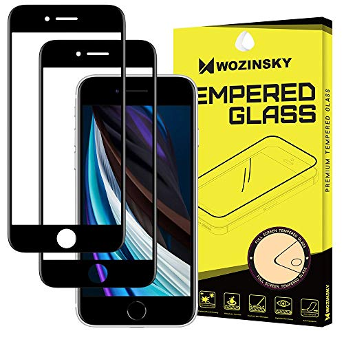 WOZINSKY Para iPhone 6/6S/7/8/SE 2020 3D Full Glue Tempered Glass with Frame 2 Unidades