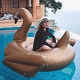 YHSW Cama Flotante Inflable Swan,Juguete de Piscina de Unicornio,Anillo de Playa de Verano,balsa de Fiesta,sillón balsa,Adecuado para niños y Adultos (190 cm / 200 kg)