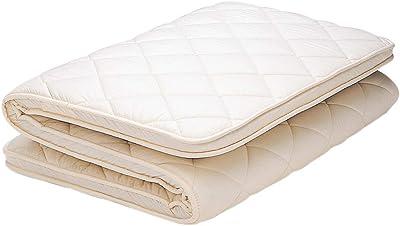 【フランスベッド正規品】 敷き布団 ホワイト シングルサイズ(幅100×長さ200×厚さ7cm) 「羊毛混 固わた下敷きふとん」 表地:綿100% 日本製 004712160