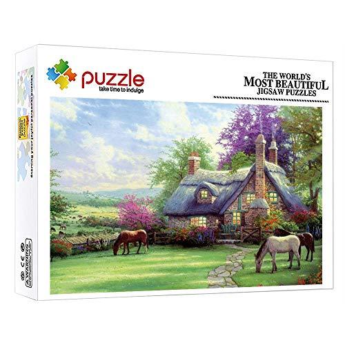 FFGHH Puzzles 1000 Mini Puzzles Jigsaw Puzzle Recomendado para Amigo Niños Adultos Puzzle 1000 Piezas Granja Regalo De Cumpleaños 38Cm X 26Cm