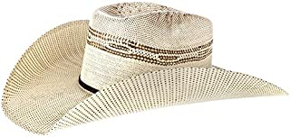 Mens Twister Bangora Straw Cowboy Hat 73/8 Brown