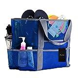 Faletony XXL Netz-Strandtasche Familie Mesh-Strand-Tasche Netztasche für Sandspielzeug, Extra Große Familie Mesh Beach Bag Tote, Grün/Blau/Schwarz/Rose Rot