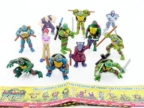 Kinder Überraschung, Die Ninja Turtels von Dolci Preziosi mit BPZ (12 Figuren)