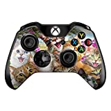 Silly Cats in Open Field - Skin Decal Vinyl Wrap for Microsoft Xbox One Controller - stickers skins cover