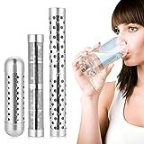 Varita de agua alcalina portátil, 3 unidades/set de pH alcalino ionizador de minerales de hidrógeno con filtro purificador de agua (3 piezas)