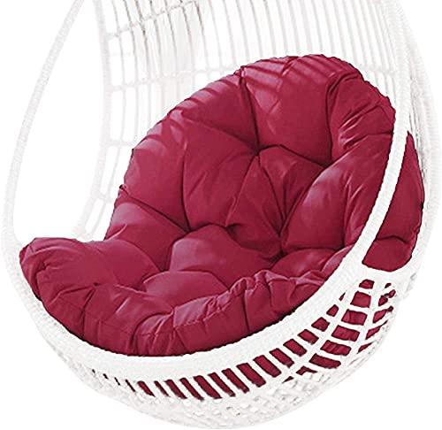Cojín de asiento para colgar en la cesta, grueso para colgar huevos, cojines para sillas para interiores y exteriores, patio, jardín, multicolor para elegir color rojo oscuro