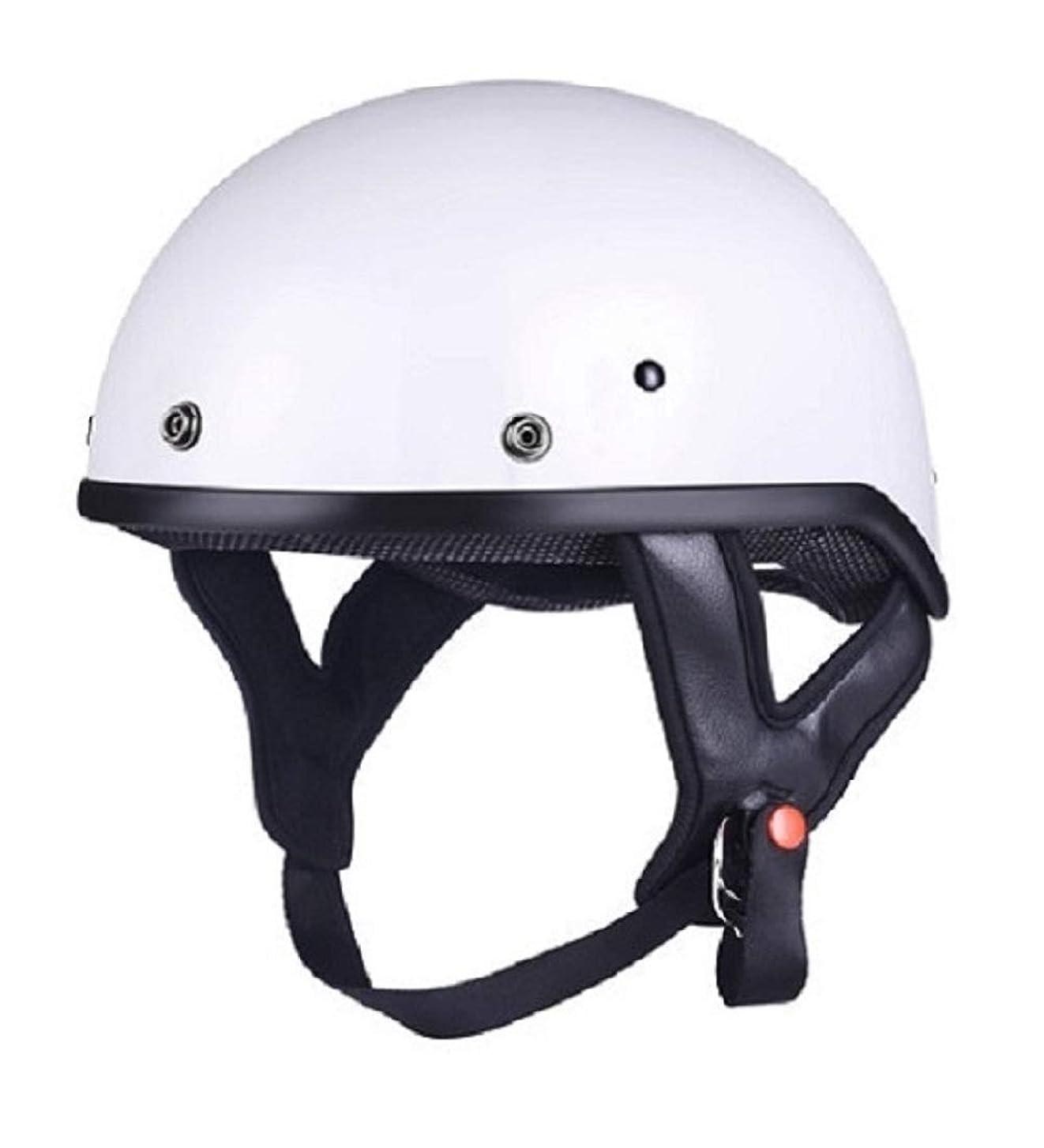 非武装化に対応悲しいことにGOHAN(ゴハン) ヘルメット バイクヘルメット ハーフ 半帽 スクーター バイク用 オートバイ 原付き 公道 クリアシールド 開閉シールド ゴーグル 軽量 耐久 耐衝撃 吸汗 通気 スポーツ アウトドア パラソル 四季 強化ABS材質 かっこういい クール USブランド 販売授権809 男女兼用 米国DOT認証(2XL, ホワイト)