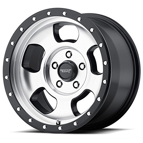 """American Racing AR969 Ansen Off Road Wheel with Machined Finish and Satin Black Ring (15x8""""/5x114.3mm, -19 offset)"""