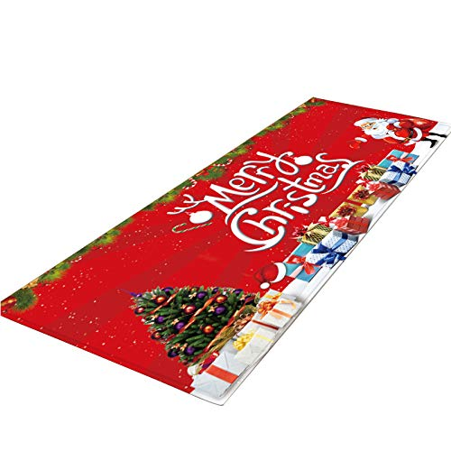 BBQQ Merry Christmas Welcome Floor Mats Indoor Home Rugs Decor 40 x 120 cm Christmas Decorations Clearance Tree Ornaments Skirt Topper Lights Pyjamas for Family