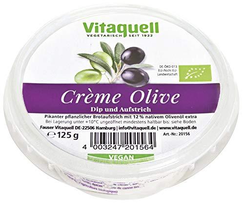 Vitaquell Bio Crème Olive - veganer Frischkäse 125 g