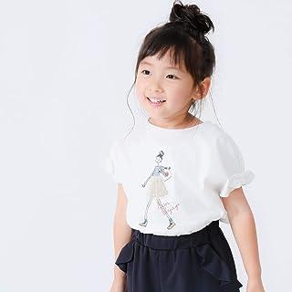 (コムサ イズム) COMME CA ISM ガールプリント 袖リボンTシャツ 98-62TL33-109