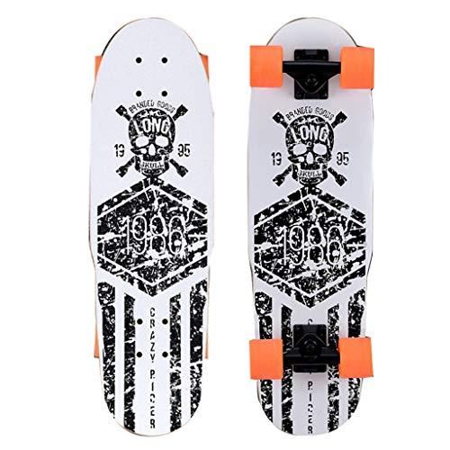 Skateboarden Cruiser Unisex 4-Rad Street-Scraping-Auto Universal Professional Allrad (Color : A, Size : 66 * 7.5cm)