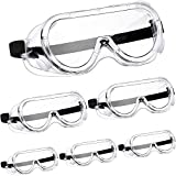 6 Pairs Safety Goggles Protective Safety Glasses Chemical Splash Resistant Goggle Clear Adjustable