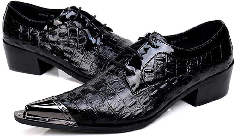 Mr.Zhang's Art Home Mnner Schuhe Schwarze, Spitze Herrenschuhe zum Schnüren