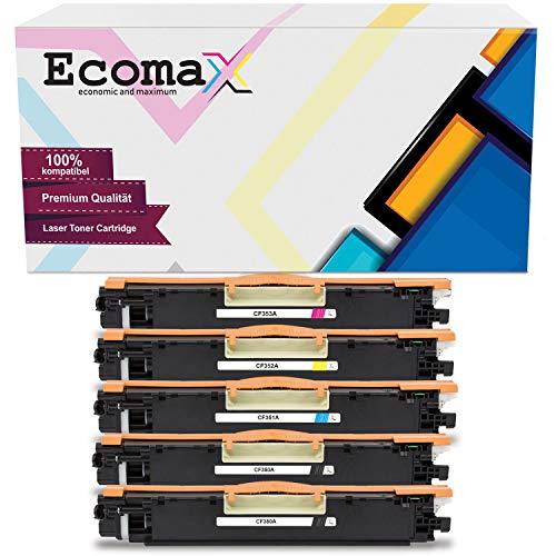 Ecomax 5 Toner kompatibel zu HP 130A CF350A CF351A CF352A CF353A für HP Color Laserjet Pro MFP M176n M177fw M170 Series