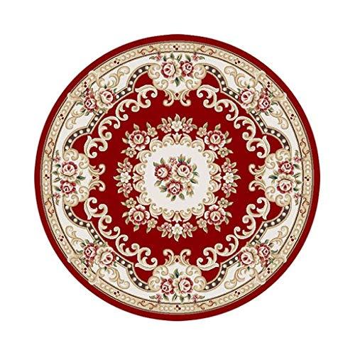 carpet Lavable sous Vide Tapis Durable Salon Hôtel Lobby Salon Chambre à Coucher Étude Ronde Tapis Accueil Tapis Quotidien,120 * 120cm,# 5