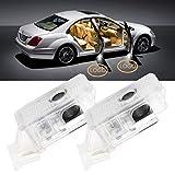 XUJINQI Auto LED Projektor Licht 6 Stück Auto-Tür-Geist-Schatten-Licht-Logo Türbeleuchtung...